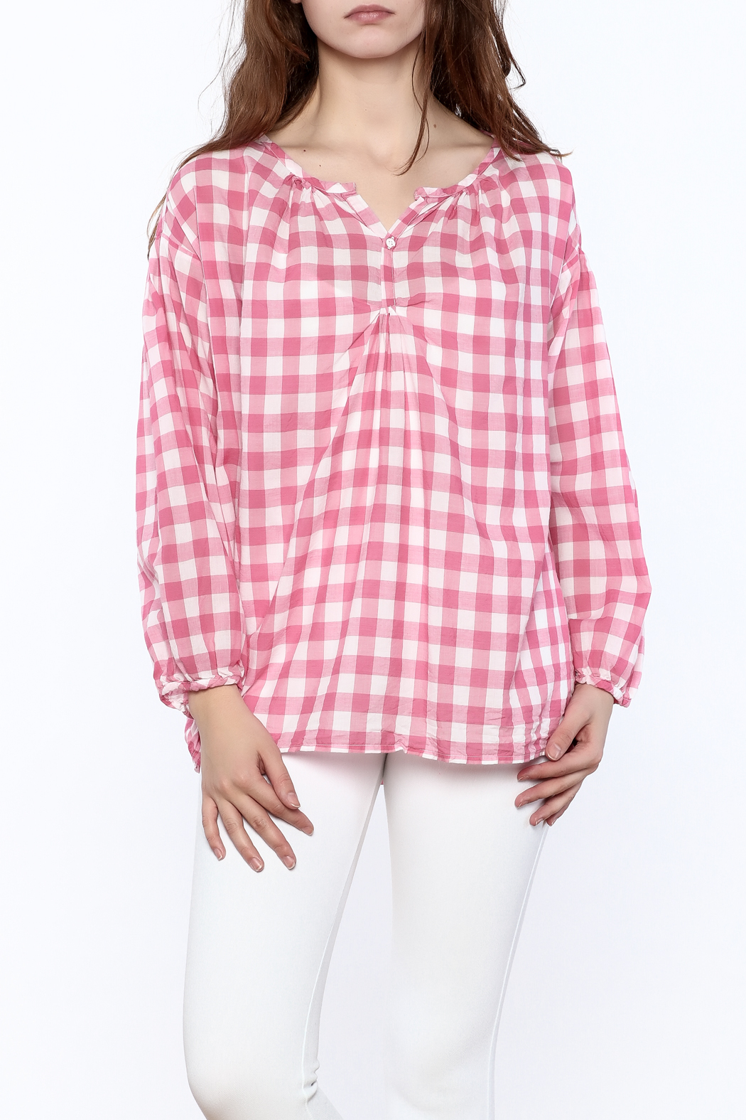 P.S. Shirt Pink Gingham Blouse - Main Image