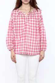 P.S. Shirt Pink Gingham Blouse - Side cropped