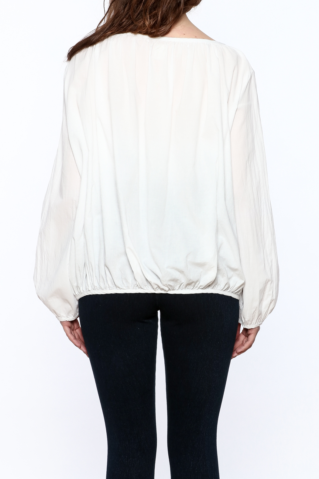 P.S. Shirt Summer Peasant Blouse - Back Cropped Image