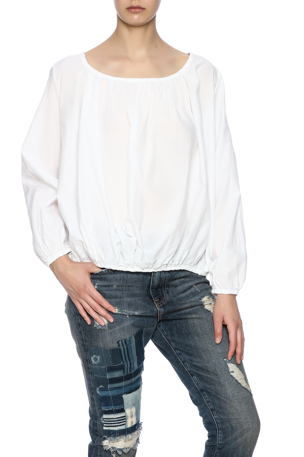 P.S. Shirt Summer Peasant Blouse - Front Cropped Image
