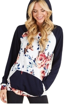 P.S Kate Navy Floral Hoodie - Product List Image