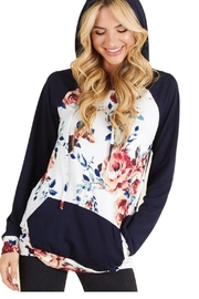 P.S Kate Navy Floral Hoodie - Product Mini Image
