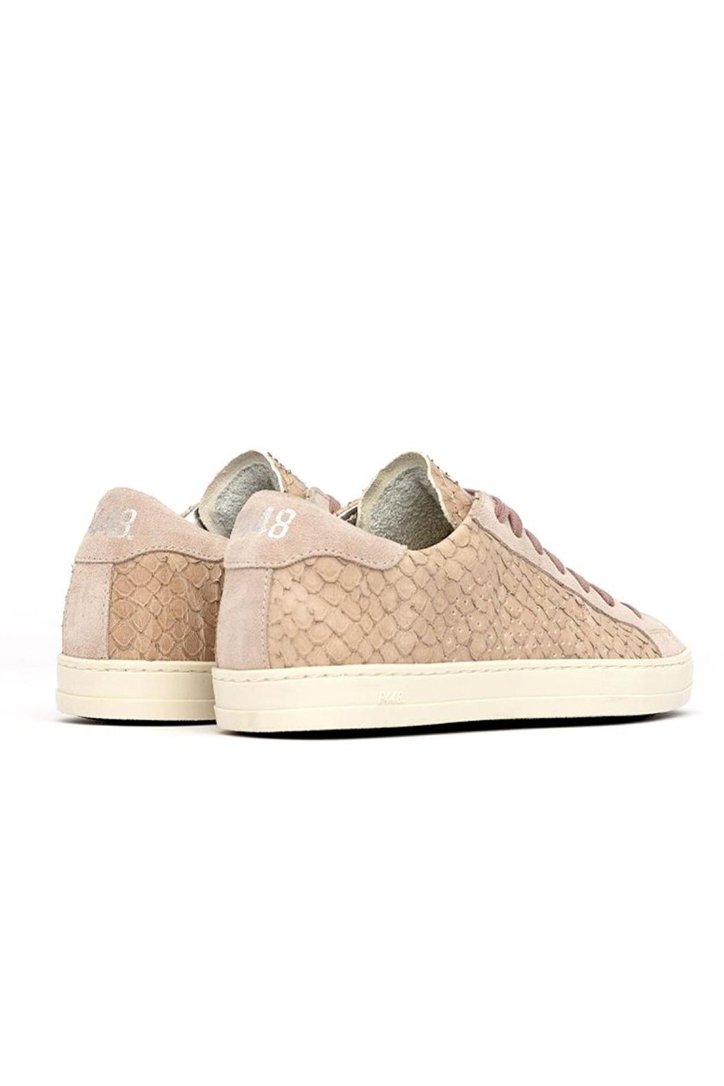 P448 Pink Python Sneakers - Front Full Image