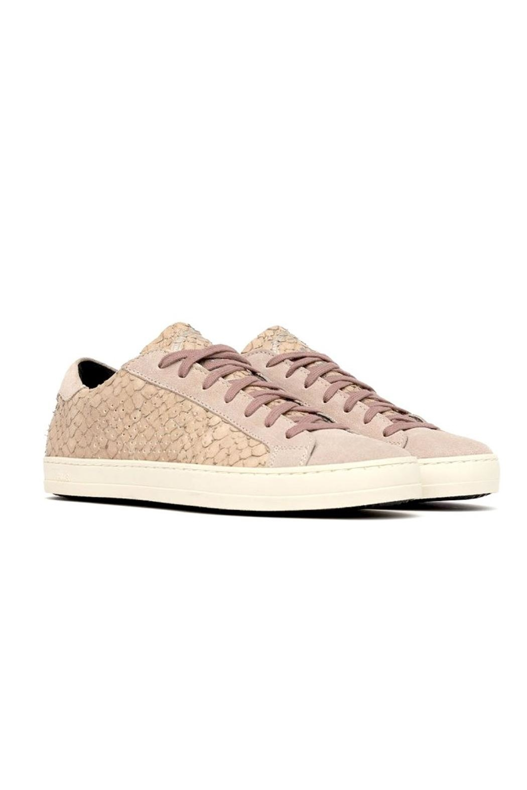 P448 Pink Python Sneakers - Side Cropped Image