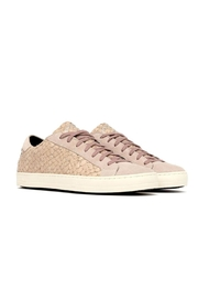 P448 Pink Python Sneakers - Side cropped