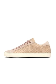 P448 Pink Python Sneakers - Front cropped