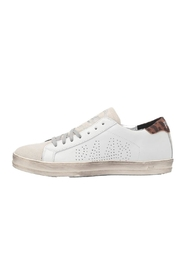 P448 White Leopard Sneaker - Front cropped