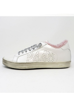P448 Whitepea Fur Sneakers - Product List Image