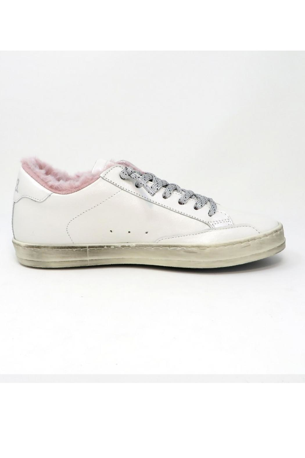 P448 Whitepea Fur Sneakers - Front Full Image