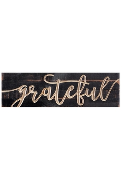 P Graham Dunn Carved Sign Grateful - Product List Image