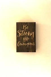 P Graham Dunn Courageous Box Sign - Front cropped