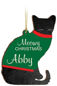 P Graham Dunn Sweater Cat Ornament - Product List Image