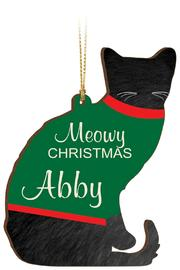 P Graham Dunn Sweater Cat Ornament - Product Mini Image