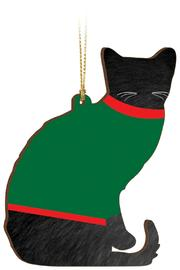 P Graham Dunn Sweater Cat Ornament - Front full body