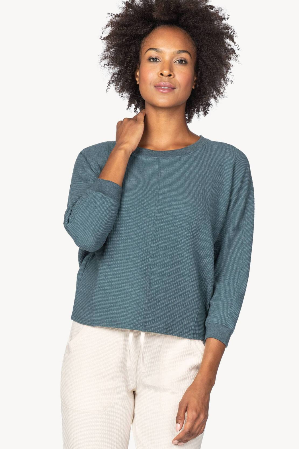 Lilla P PA1393 - Seamed Dolman Top - Front Cropped Image