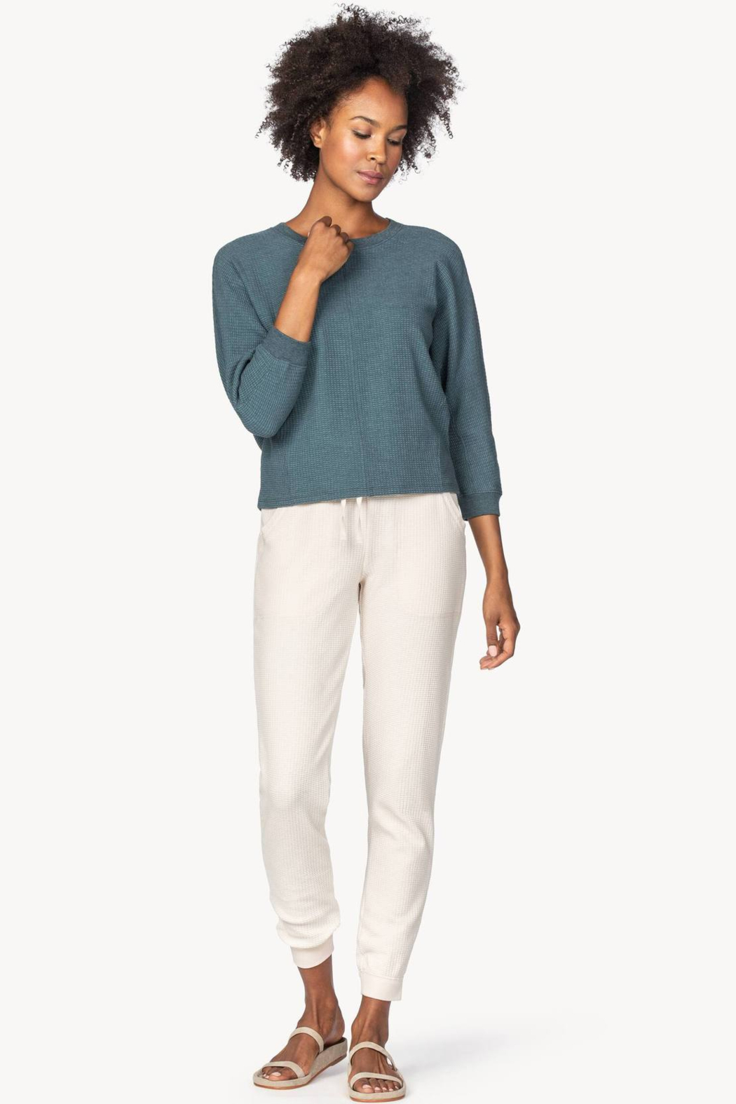 Lilla P PA1393 - Seamed Dolman Top - Front Full Image