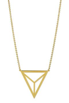 Shoptiques Product: Divided Triangle Necklace