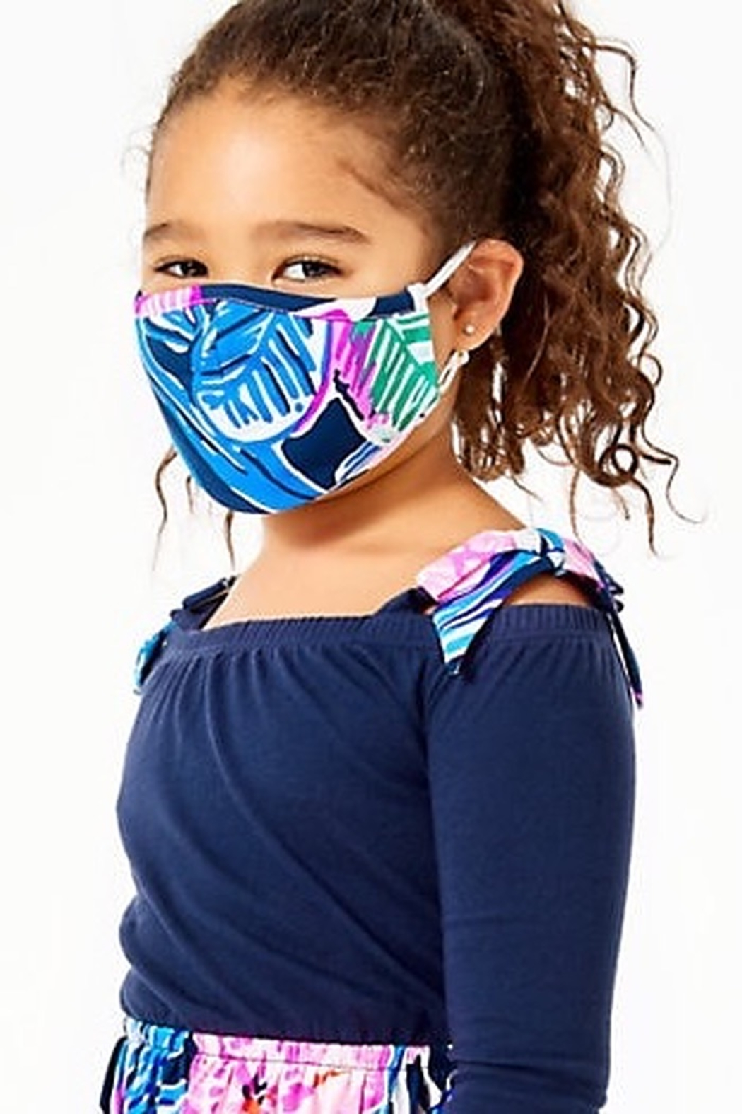 Lilly Pulitzer  Lilly Kids Face Masks - Pack of 3 - Back Cropped Image