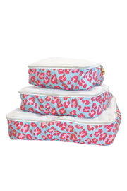 Travel Design Packing Squad - Leopard Pink & Blue - Front cropped