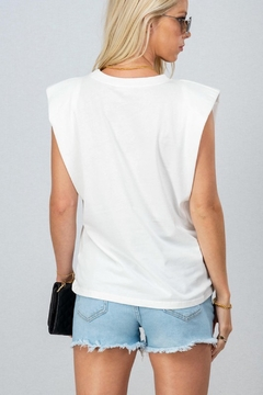 Trend Notes  Padded Shoulder Muscle Tee - Alternate List Image
