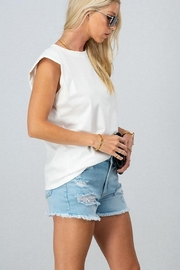 Trend Notes  Padded Shoulder Tee - Back cropped