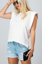 Trend Notes  Padded Shoulder Tee - Front cropped
