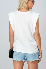 Trend Notes  Padded Shoulder Tee - Front full body