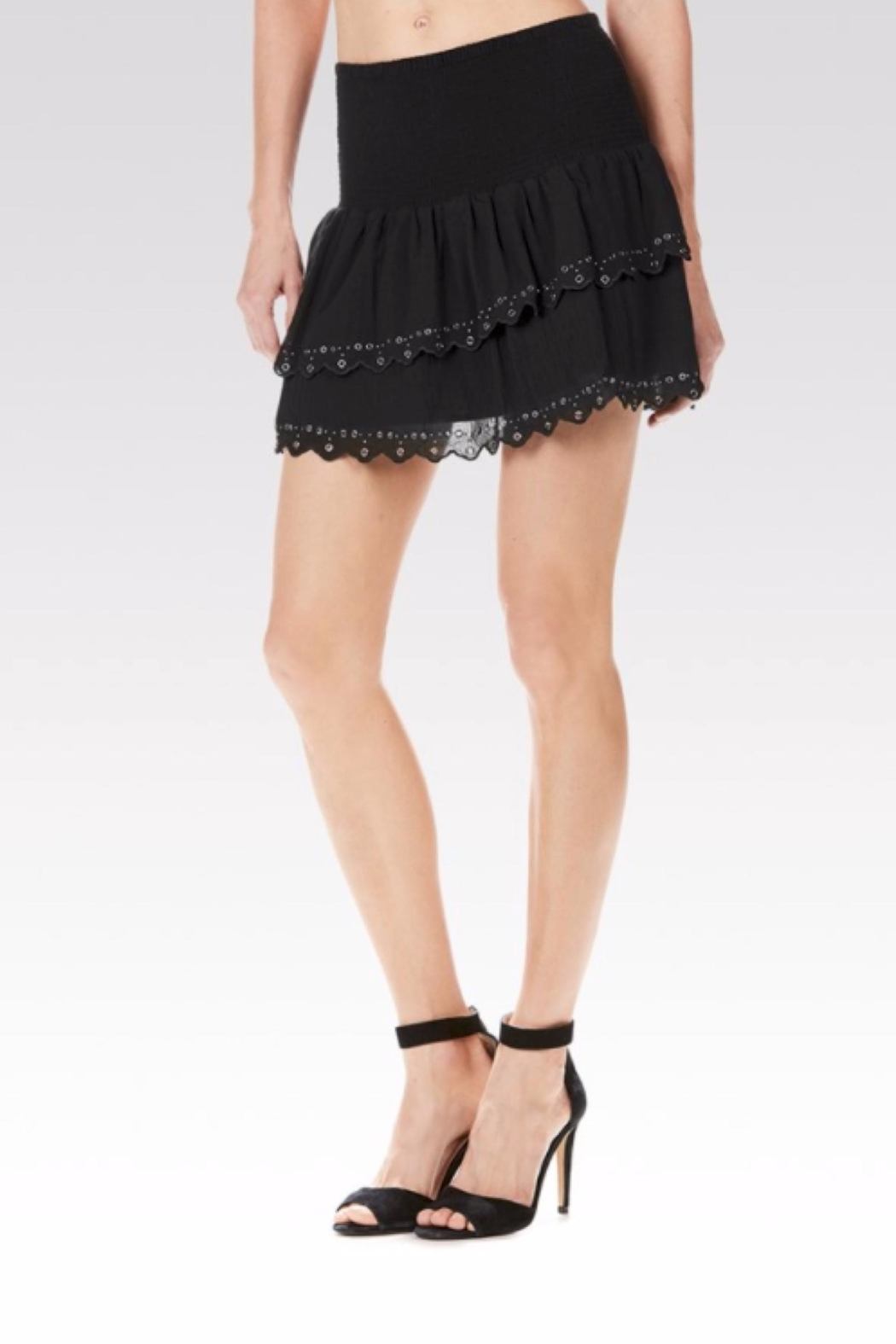 Paige Cara Eyelet Skirt - Front Cropped Image