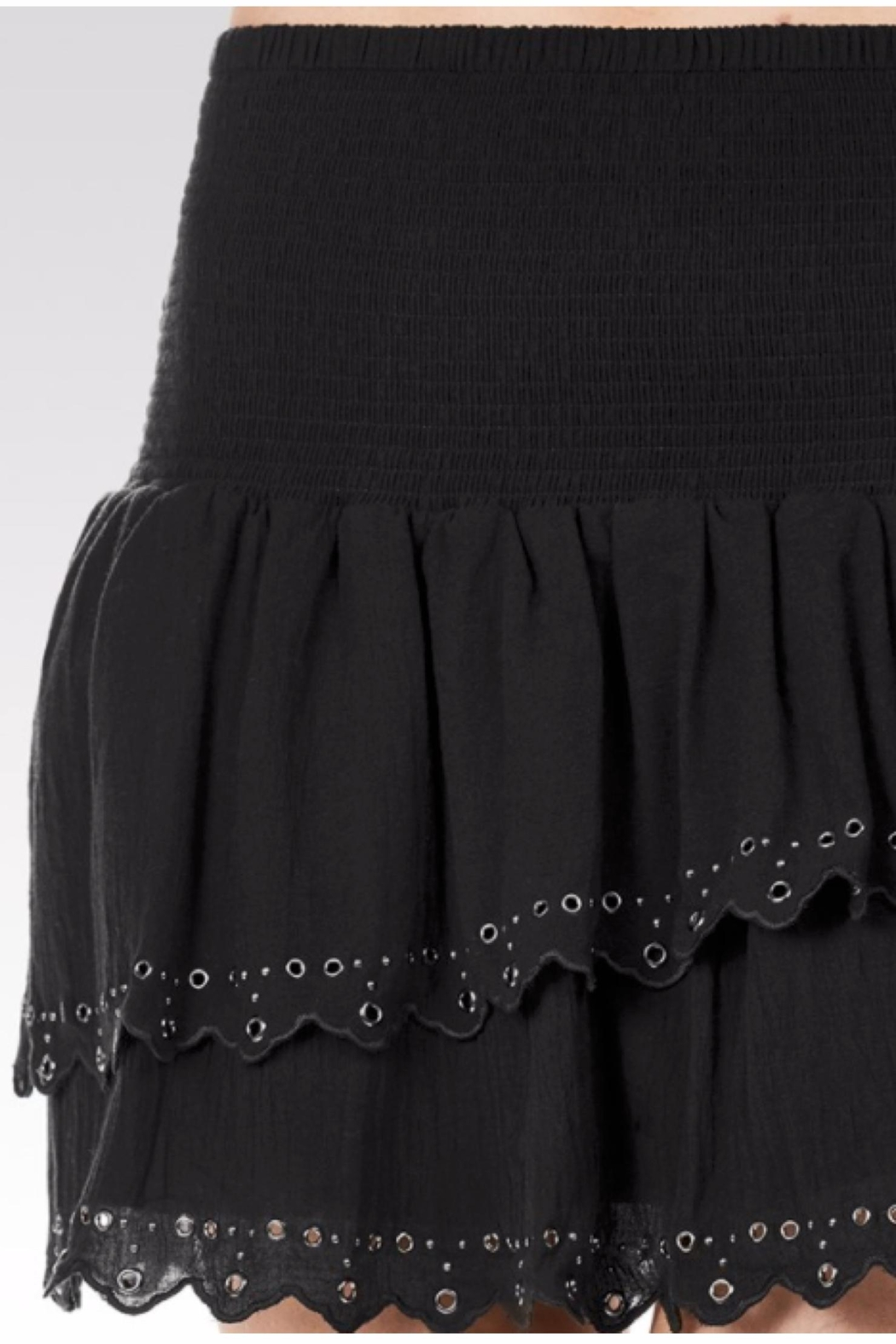 Paige Cara Eyelet Skirt - Side Cropped Image