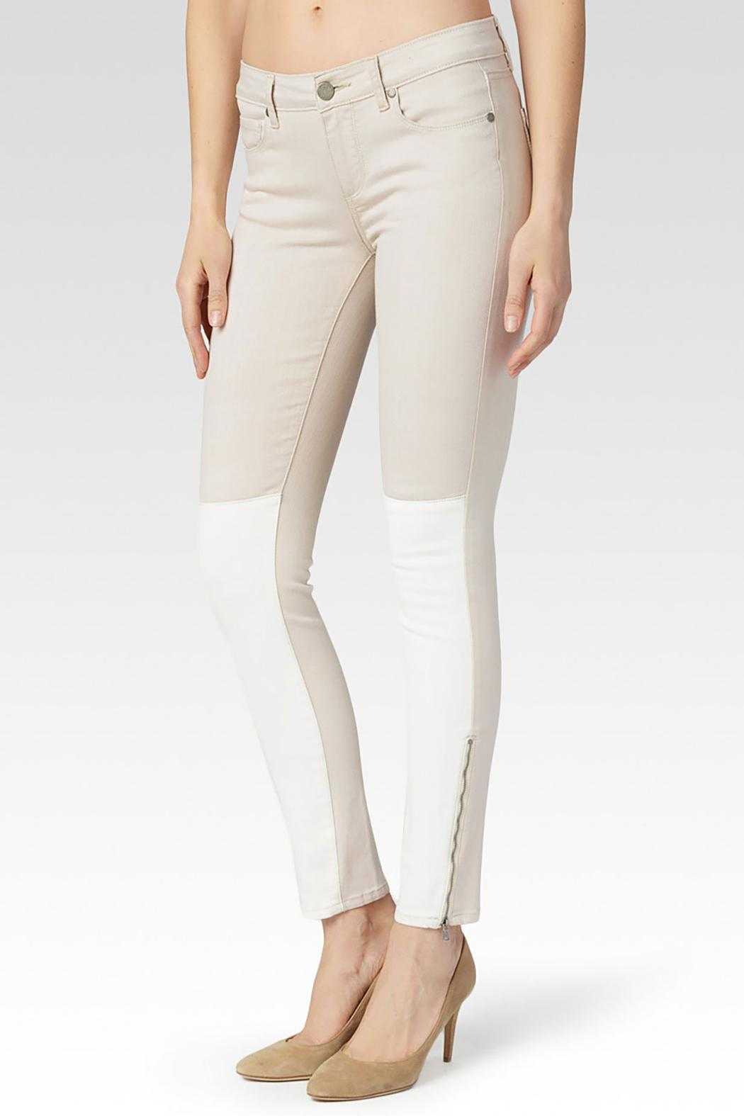 Paige Cara Ultra-Zip Skinny - Front Cropped Image