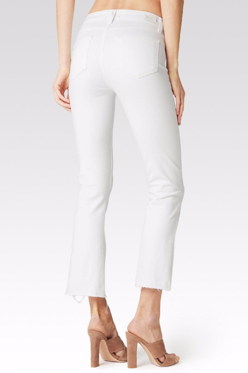 Paige Colette Crop Flare Jeans - Side Cropped Image