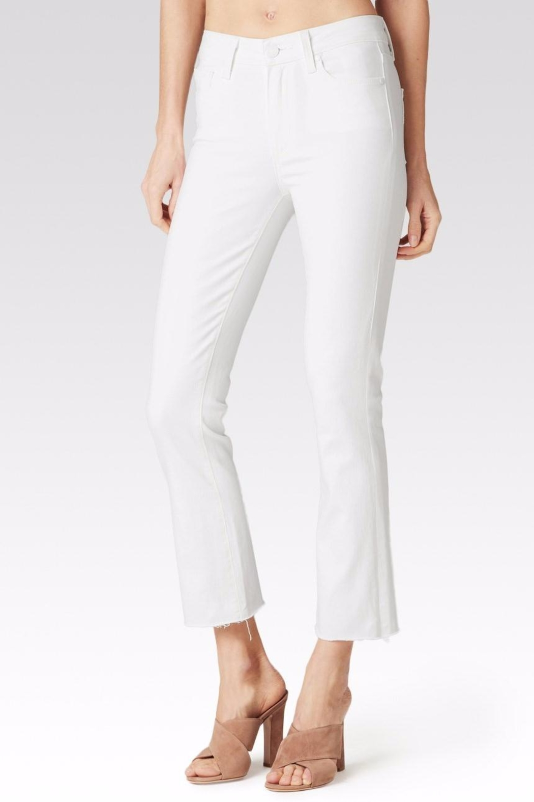 Paige Colette Crop Flare Jeans - Front Cropped Image
