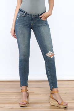 Shoptiques Product: Destructed Uneven Hem Jeans