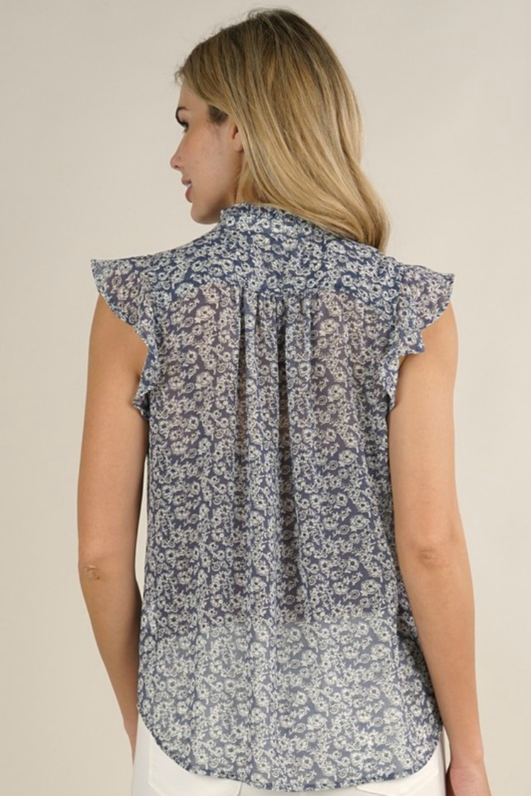 Lovestitch PAIGE FLORAL BLOUSE - Back Cropped Image