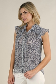 Lovestitch PAIGE FLORAL BLOUSE - Front cropped