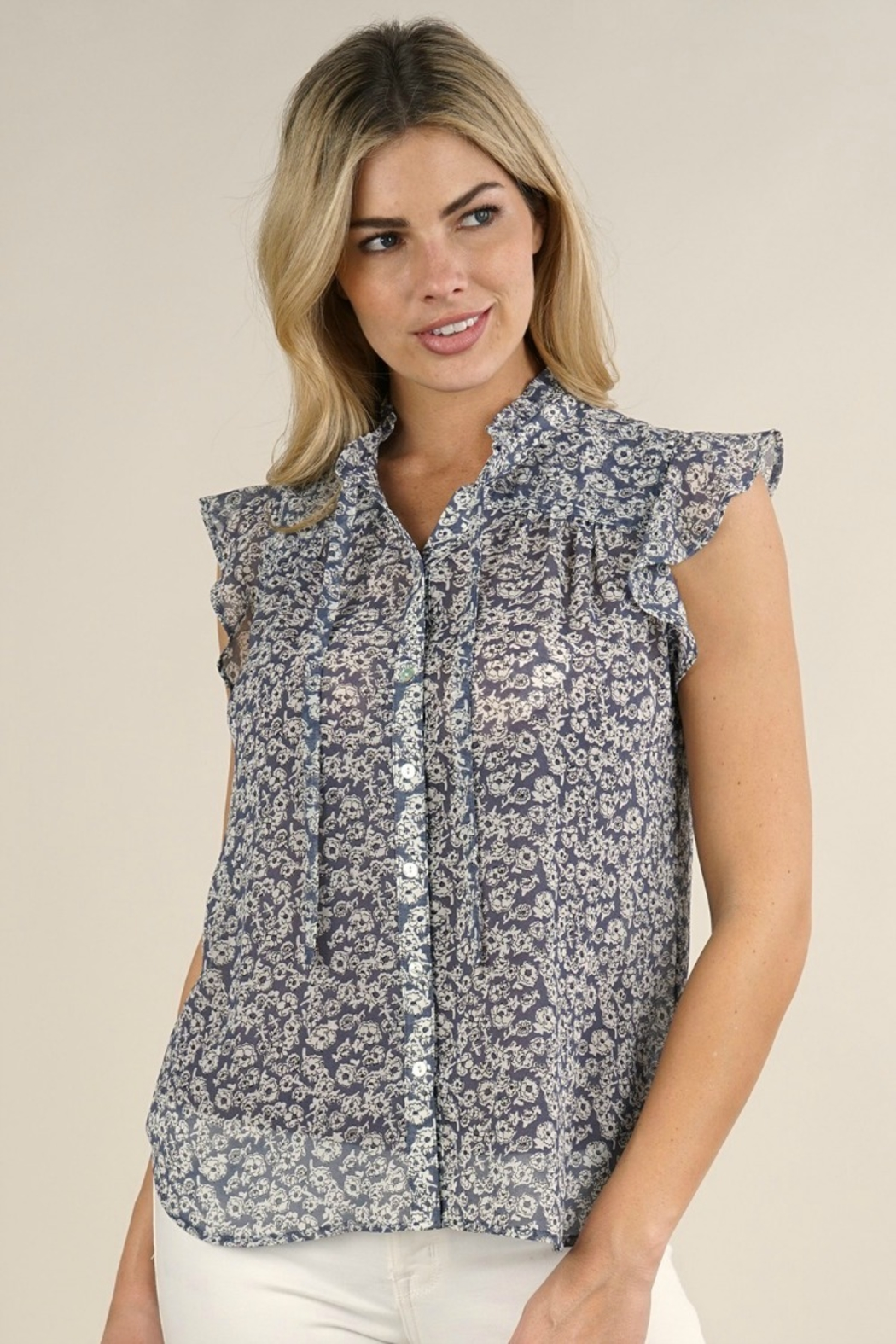Lovestitch PAIGE FLORAL BLOUSE - Front Full Image