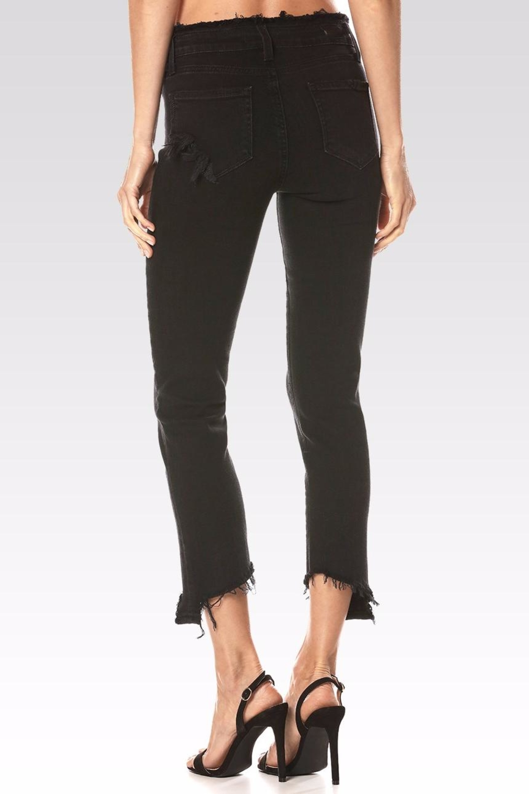 Paige Julia Angled Frayed Jeans - Side Cropped Image