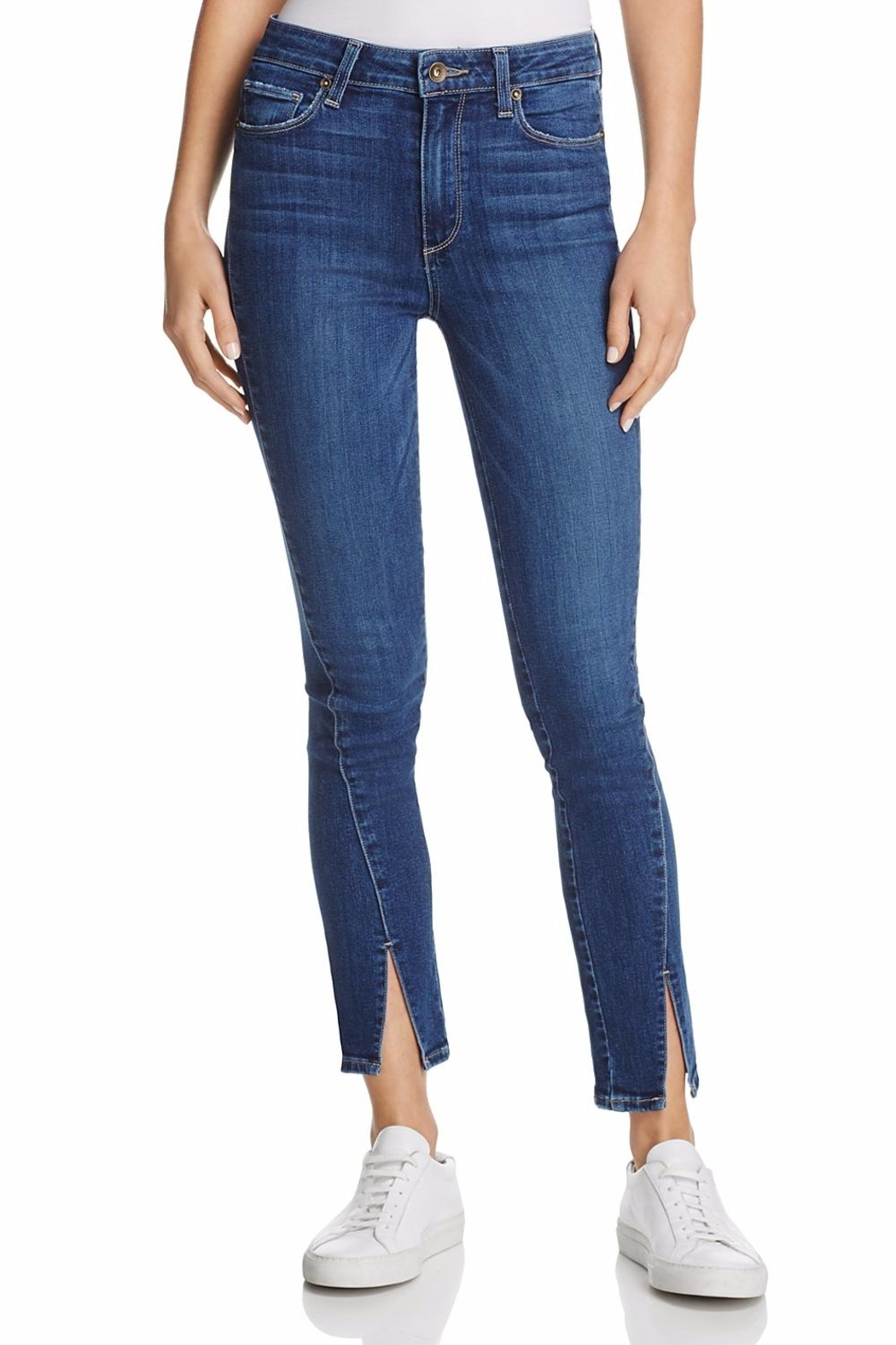 Paige Julia Twisted Seams Jeans - Front Cropped Image