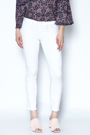 Paige Premium Denim White Skinny Cropped Jeans - Product Mini Image