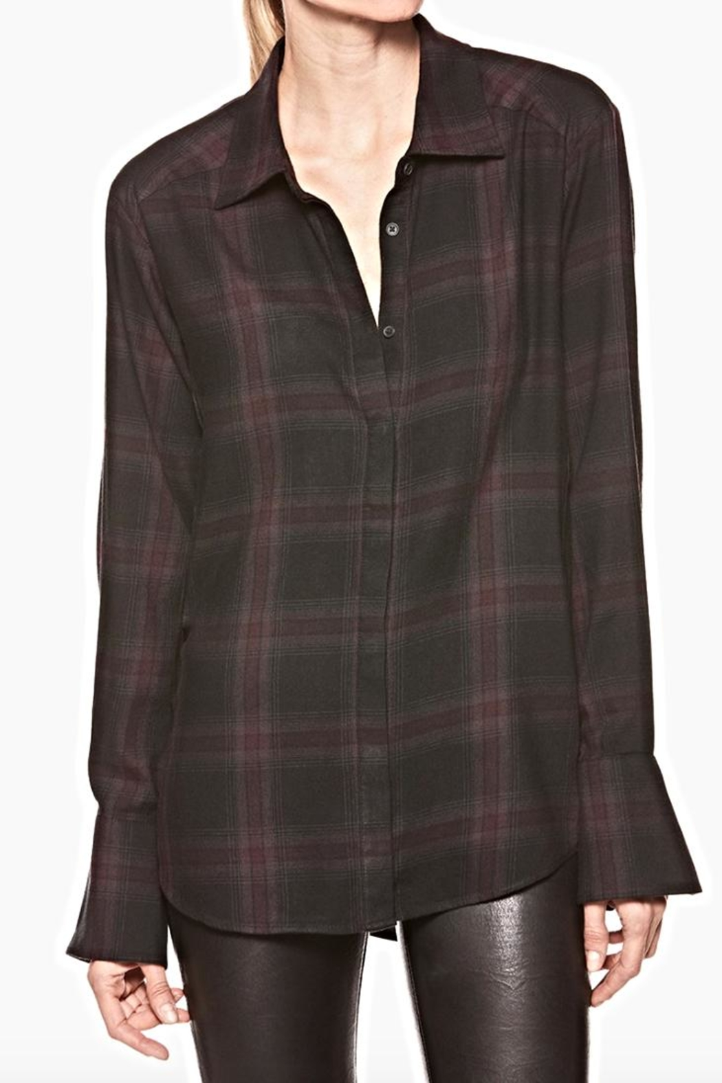 Paige True Cherry Plaid - Front Cropped Image