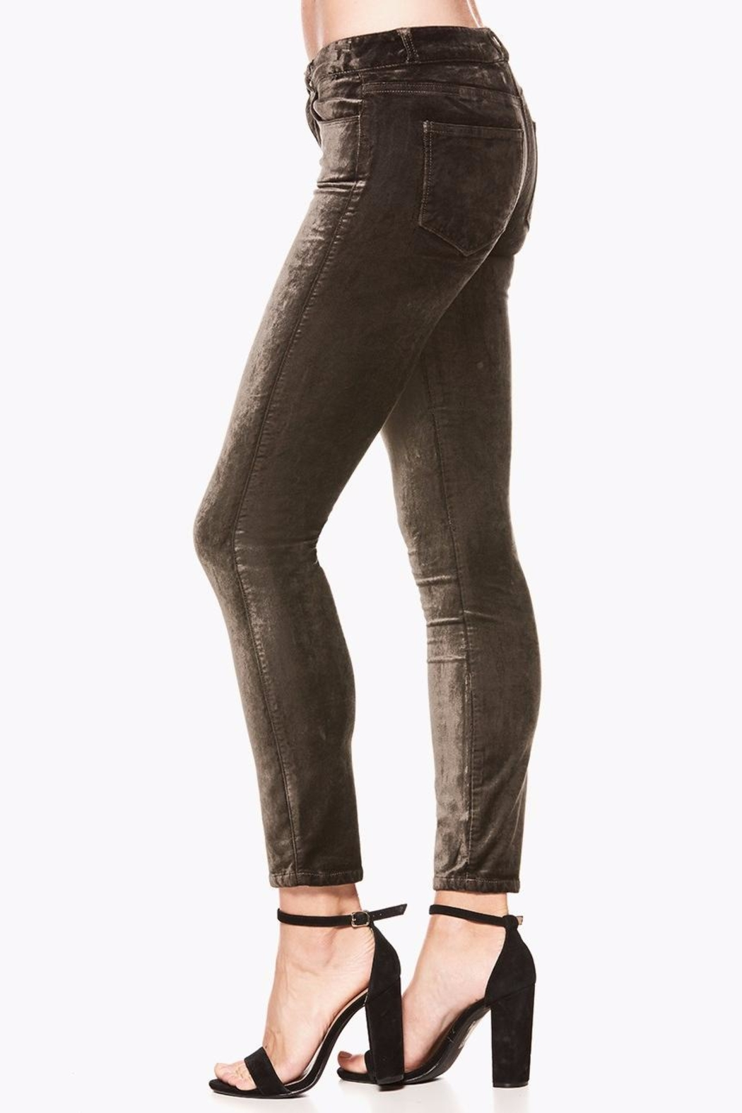 Paige Verdugo Velvet Ankle Jeans - Side Cropped Image