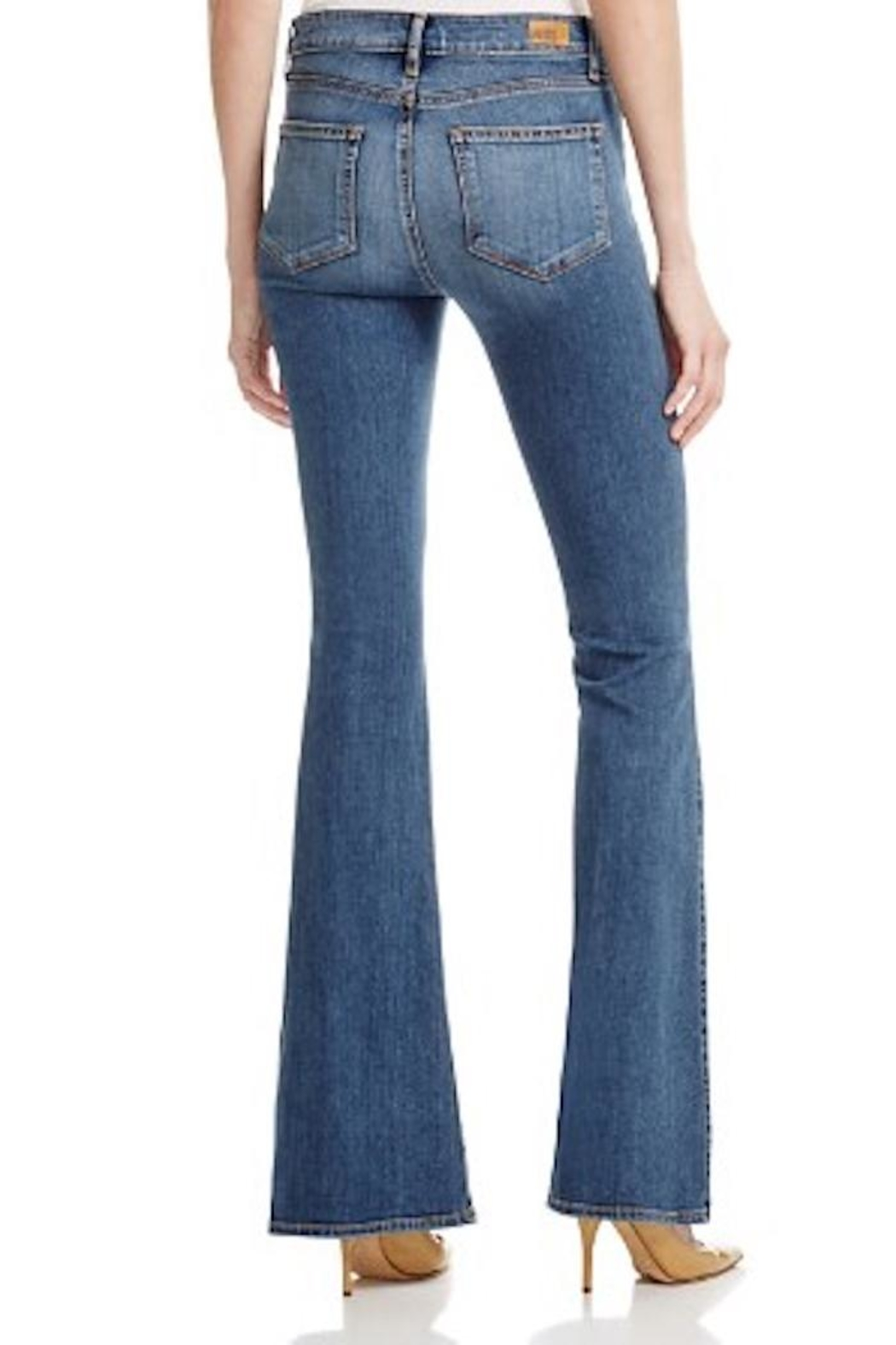 Paige Denim Distressed Flared Jean - Front Full Image