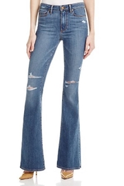 Paige Denim Distressed Flared Jean - Product Mini Image