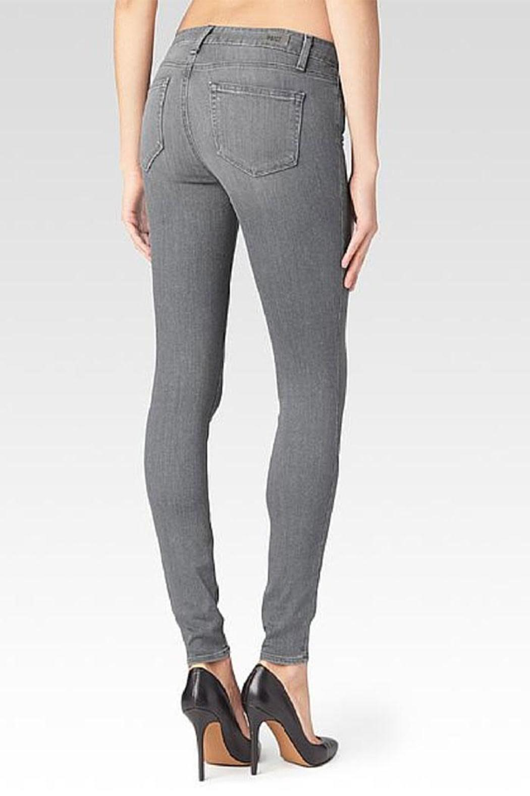 Paige Denim Verdugo Silver Skinnies - Front Full Image