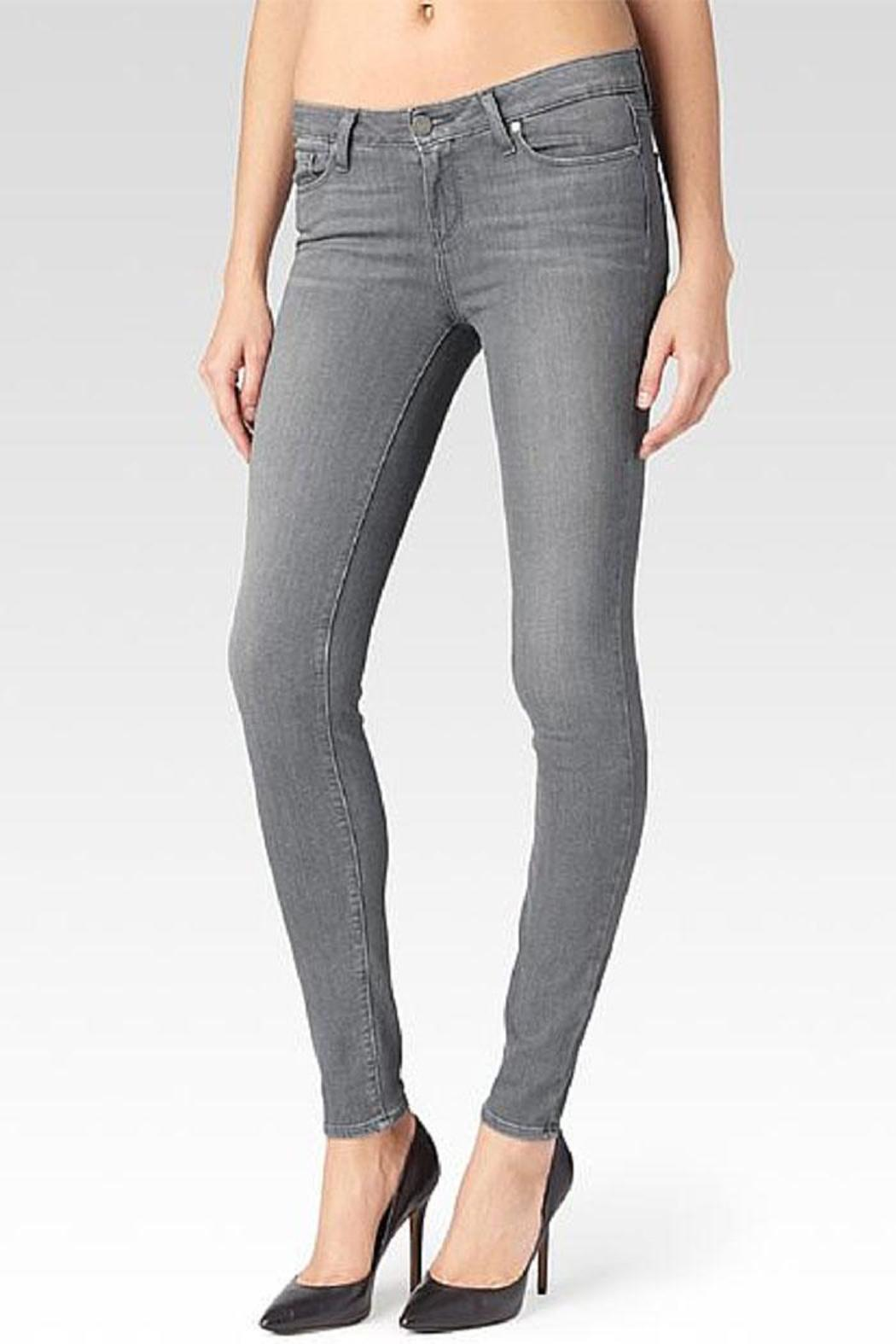 Paige Denim Verdugo Silver Skinnies - Front Cropped Image