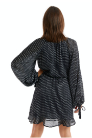 Allison Collection Paint Dot Wrap Dress - Front full body