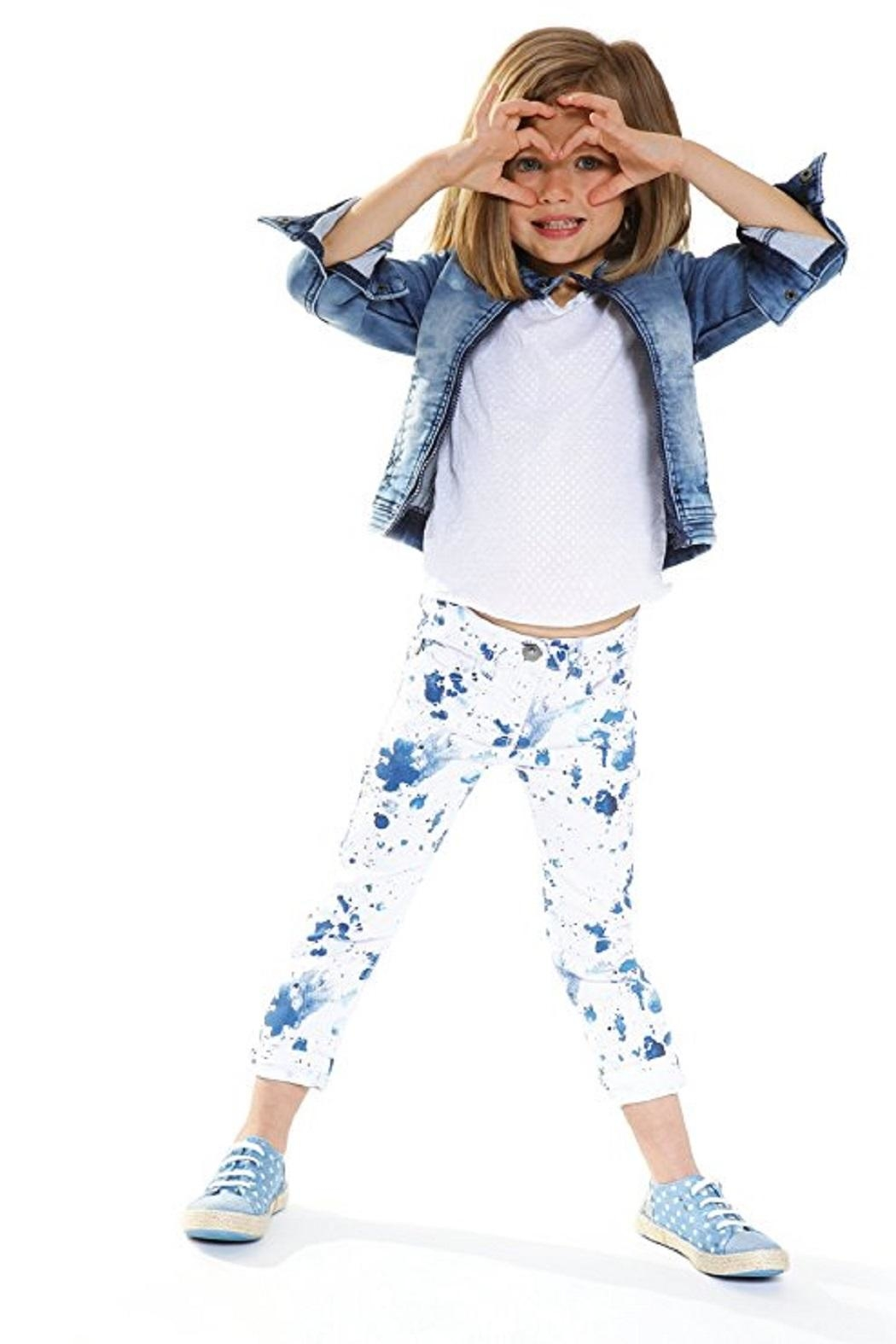 3 Pommes Paint Splatter Jean - Side Cropped Image