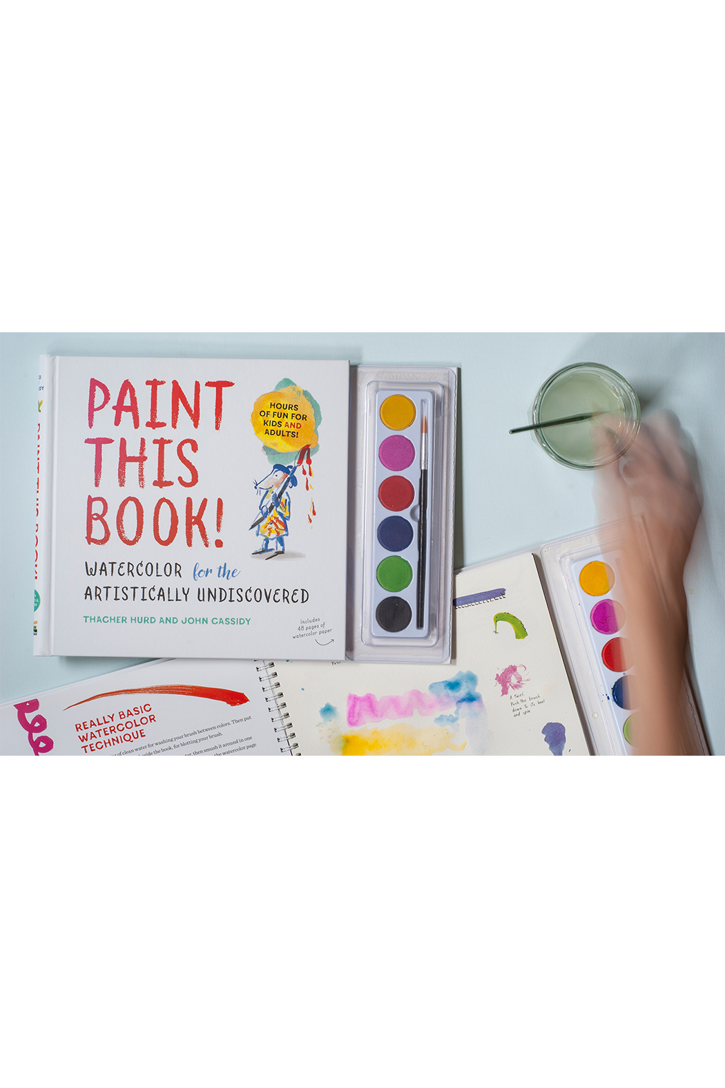 Workman Publishing Paint this Book! Watercolor for the Artistically Undiscovered - Front Full Image