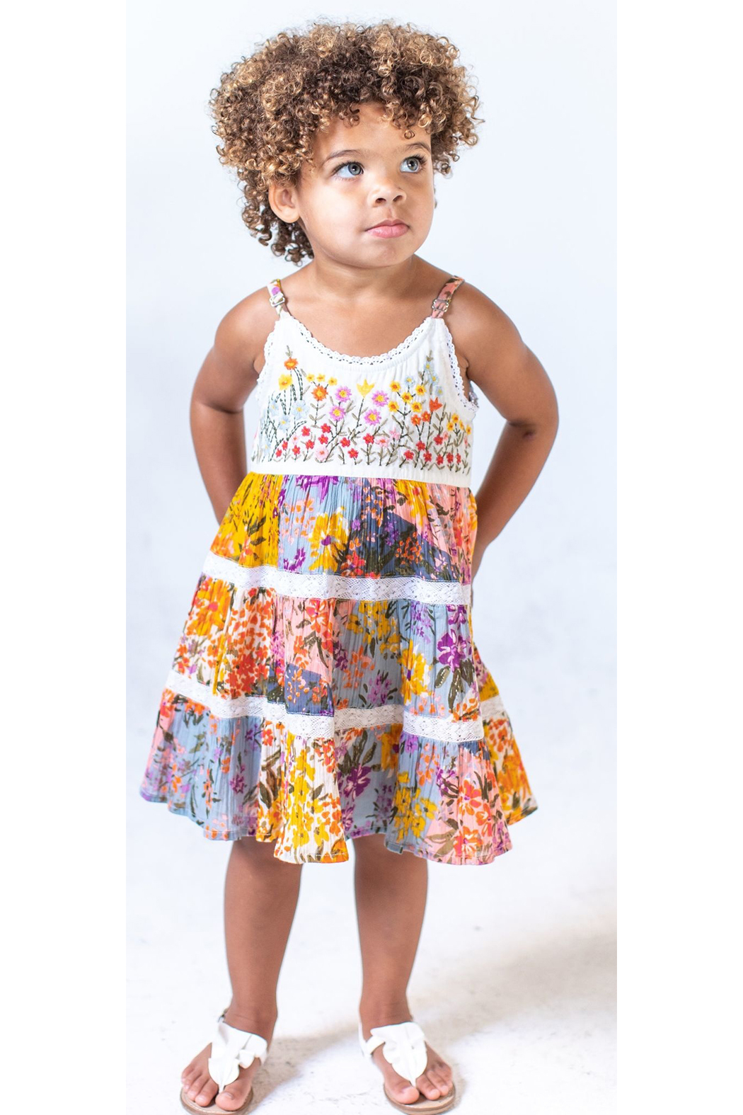 Mimi and Maggie Paintbox Flowers Dress - Main Image