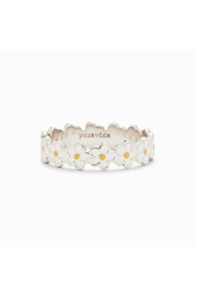 Puravida PAINTED BLOOMS RING - Front cropped
